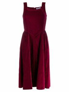 Batsheva velvet flared dress