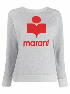 Isabel Marant Étoile logo print sweatshirt - Grey