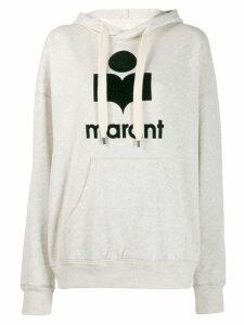 Isabel Marant Étoile logo drawstring hoodie - White
