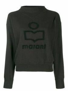 Isabel Marant Étoile logo print sweatshirt - Black
