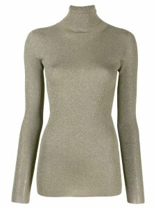 Brunello Cucinelli lurex turtleneck top - GOLD