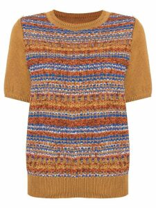 Coohem autumn mix tweed jumper - Brown
