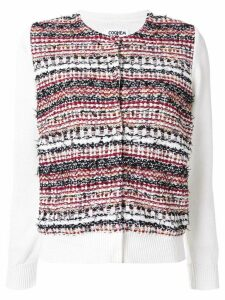 Coohem autumn mix tweed cardigan - White