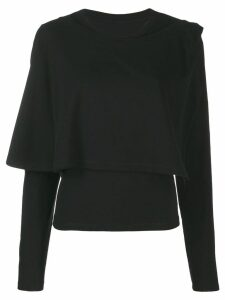 Mm6 Maison Margiela layered long sleeved top - Black