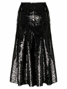 Simone Rocha sequin midi skirt - Black