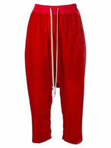 Rick Owens cropped track pants - Red