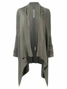 Rick Owens ribbed cardi-coat - Grey