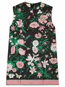 Gucci sleeveless floral tunic top - Black