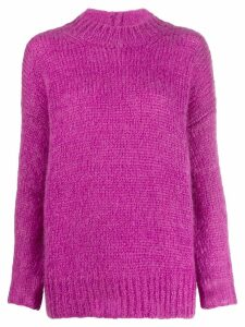 Isabel Marant classic fitted sweater - Purple