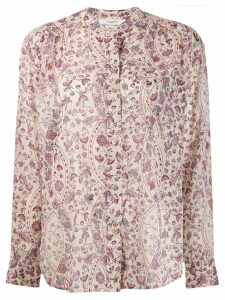Isabel Marant Étoile floral long-sleeve top - NEUTRALS