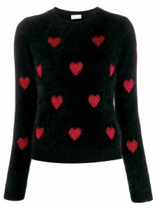 Red Valentino RED(V) heart motif jumper - Black