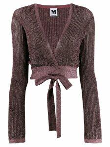 M Missoni knit shoulder shrug top - PINK