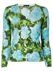 Samantha Sung Charlotte hydrangea print cardigan - Blue