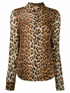 Nº21 leopard print shirt - Brown