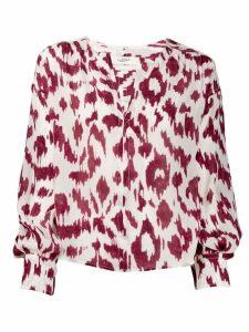 Isabel Marant Étoile leopard print blouse - NEUTRALS