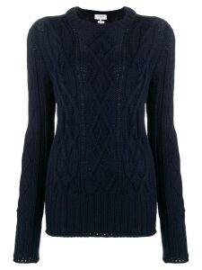 Thom Browne Center Back RWB Navy Pullover - Blue
