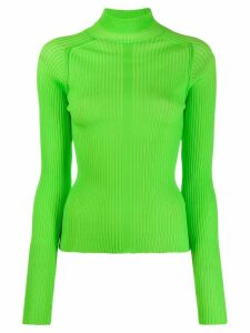 Acne Studios ribbed polo neck sweater - Green