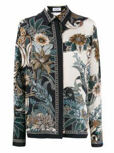 Salvatore Ferragamo floral print shirt - NEUTRALS