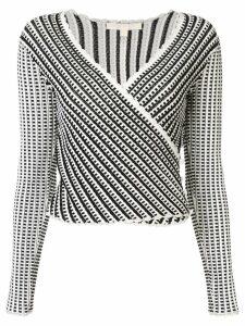 Jonathan Simkhai lace Ottoman wrap top - White