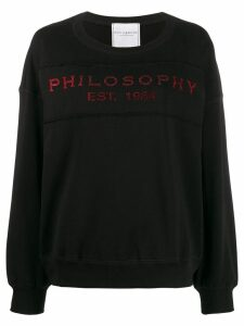 Philosophy Di Lorenzo Serafini red glitter embellished logo sweater -