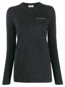 Brunello Cucinelli chest pocket top - Black