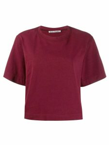 Acne Studios boxy-fit logo T-shirt - Red