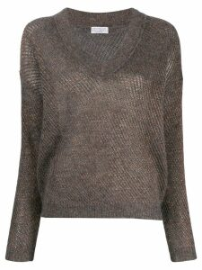 Brunello Cucinelli V-neck jumper - Grey