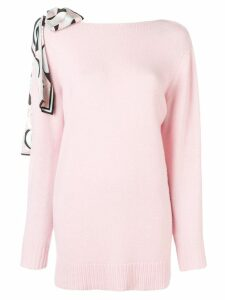 Emilio Pucci Silk Shoulder Tie Cashmere Jumper - Pink