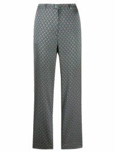 Etro jacquard trousers - Blue