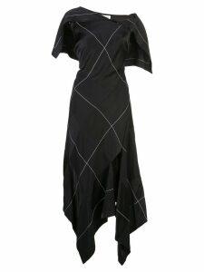 Monse patchwork midi dress - Black