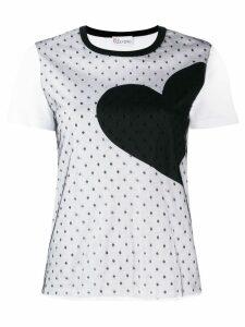 RedValentino heart print T-shirt - White