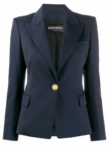 Balmain single-breasted tailored blazer - Blue
