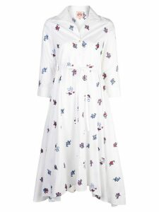 Le Sirenuse floral shirt dress - White
