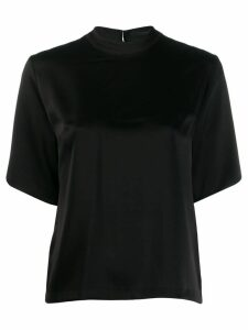 Nanushka silk T-shirt - Black