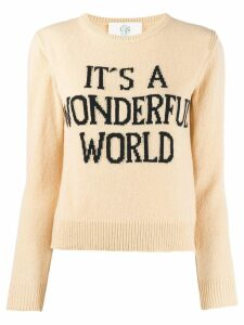 Alberta Ferretti It's A Wonderful World sweater - Neutrals