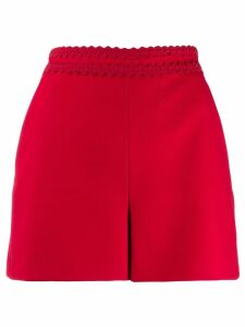 Red Valentino topstitching short shorts