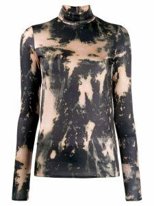 Acne Studios bleach print turtleneck top - NEUTRALS