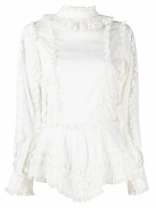 See By Chloé embroidered trim shirt - NEUTRALS