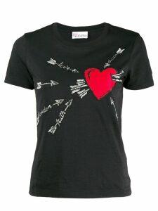 Red Valentino heart T-shirt - Black