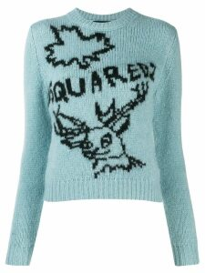 Dsquared2 logo knit sweater - Blue