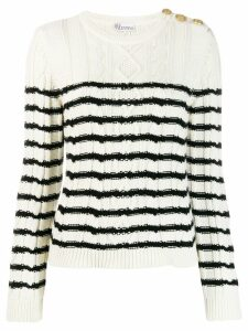 Red Valentino love cable-knit jumper - White
