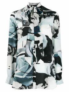 Alexander McQueen Torn Rose print blouse - Blue