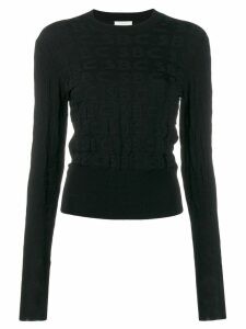 See By Chloé all over logo jumper - Black