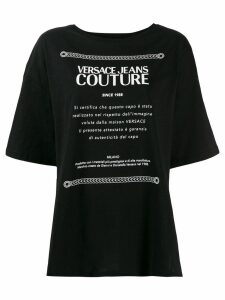 Versace Jeans Couture oversized T-shirt - Black