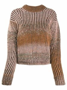 Acne Studios rainbow gradient jumper - Brown