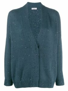 Brunello Cucinelli sequin knit cardigan - Blue