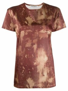 Acne Studios bleach print T-shirt - Brown