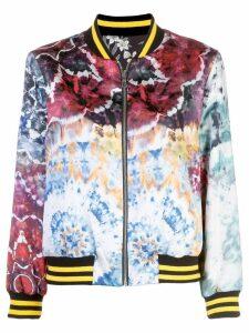 Alice+Olivia Lonnie tie dye bomber jacket - Multicolour