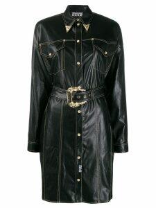 Versace Jeans Couture cowboy shirt dress - Black