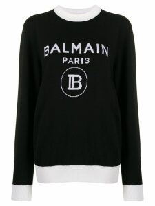 Balmain knitted logo sweater - Black